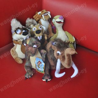 disney lot of 6 ice age stuffed plush doll toys
