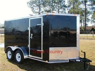 new 6x12 6 x 12 v nose enclosed cargo trailer
