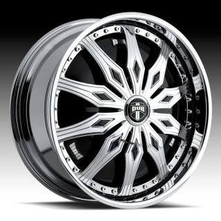 28 DUB SPIN Famous Wheel SET 28x10 Chrome Spinners Rims RWD 5 & 6 Lug