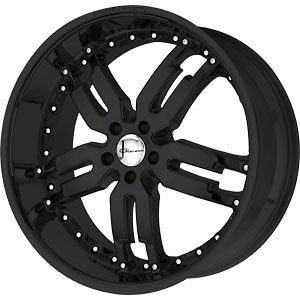 20 Giovanna Wheels Sabina Black Rims Mercedes C CLS SLK Audi A4 A6