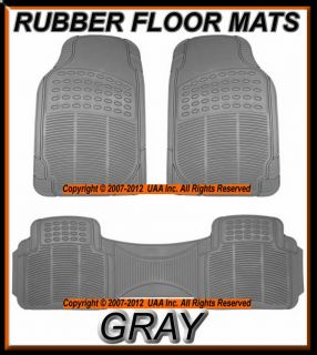 SIENNA ALL WEATHER SEMI CUSTOM GRAY RUBBER FLOOR MATS SET MT 9002GR