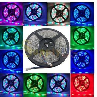 5M 3528 RGB Waterproof Flexible Strip 300 LED Light + 44Key IR Remote