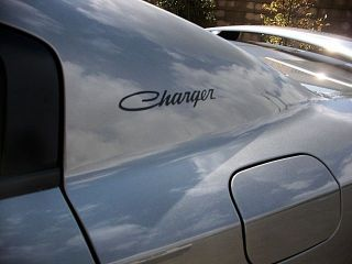 Dodge Charger Graphic Script Decals Retro Style Pair Matte Black Old