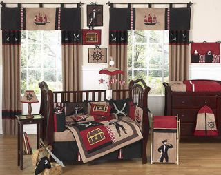 DESIGNS PIRATE SHIP NAUTICAL 9p BABY BOY CRIB BEDDING SET FOR NEWBORN