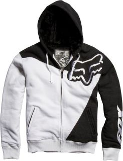 NEW Fox Racing SLEDGE SASQUATCH Zip Hoody WHITE 04177 ALL SIZES Hoodie