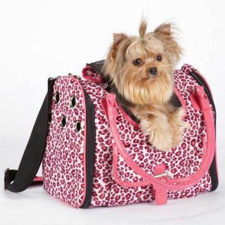 East Side Collection Vibrant Leopard Print Dog Cat Pet Soft Carrier