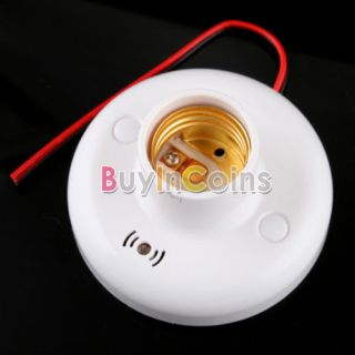 New Lamp Holder E27 Sound Voice Control Induction Light Bulb Switch