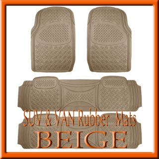 PCS TOYOTA SIENNA HEAVY DUTY BEIGE RUBBER FLOOR MATS / FULL SET