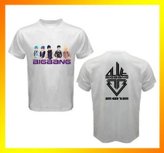 New ANIME KPOP BIGBANG ALIVE Tour 2 Sides White T Shirt All sizes