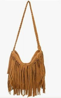New Celebrity Fringe Tassel Shoulder Messenger Cross Body Bag Handbag