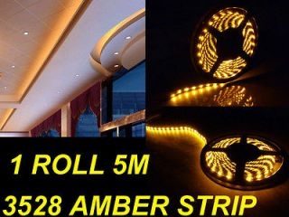 5M 16 ft Home Theater Theatre Pool LED Tape Lighting Amber Strip