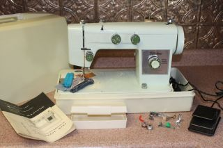 vtg montgomery wards sewing machine strong 1 3 amp nice