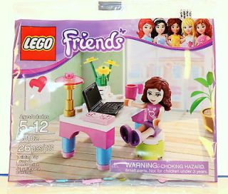 LEGO Friends Olivia Desk 30102 Laptop Computer Polybag Minifigure NEW