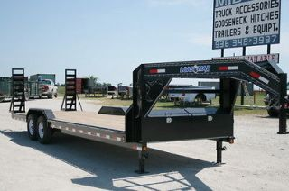New 26 x 102 Gooseneck Carhauler Equipment Trailer w/ 7K Axles