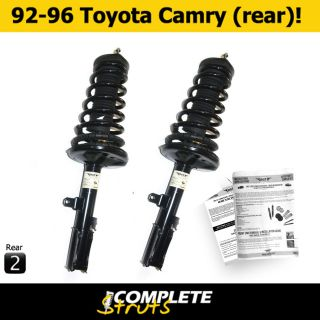 Toyota Camry Complete New Rear Quick Struts & Springs Pair 1992 1996