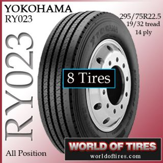 tires Yokohama RY023 295/75R22.5 14 ply tire semi truck tires 22.5lp