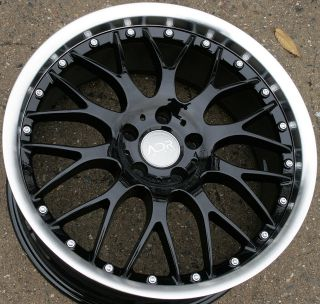ADR M CLASSIC 19 BLACK RIMS WHEELS G35 Sedan 03 up / 19 x 8.5 5H +35