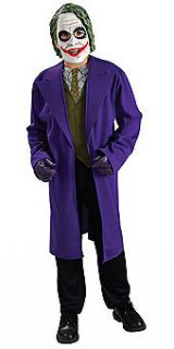 batman dark knight joker costume tween standard new