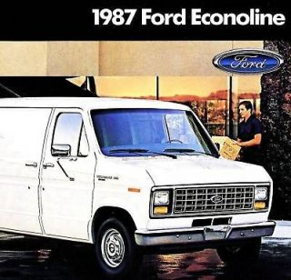 1987 ford econoline van brochure e150 e250 e350 time left