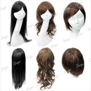 Long & Short Black Brown Women Wigs Hair pieces for women Straight