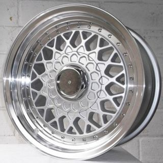 15 VW GOLF MK1 1974 1983 JAERO OS3 STAGGERED ALLOY WHEELS 4x100
