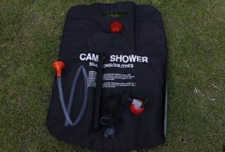 20L Outdoor Camping Hiking Solar Energy Camp Shower Pipe Bag
