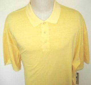 NWT 3XL Big & Tall Woolrich Polo SS MESH Mens Cotton Yellow Polo Golf