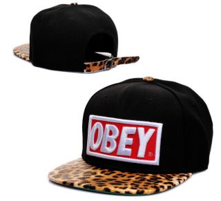 2012 New Obey Snapback Hats Adjustable Baseball Cap Hip Hop Hat Free