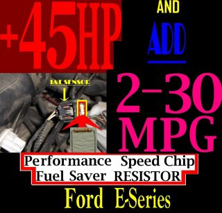 FORD E SERIES VAN 1989 2010 2011 2012 PERFORMANCE SPEED CHIP FUEL