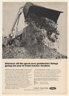 1969 Ford 4500 Tractor Loader Photo Print Ad