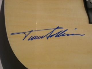 TRACE ADKINS Signed Acoustic Guitar Full Signature COA Autograph