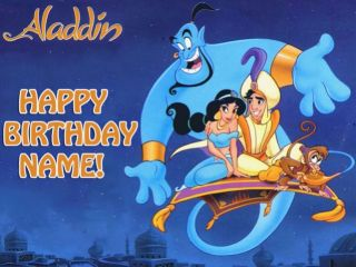 Aladdin Edible Image Cake Icing Topper Decoration Party