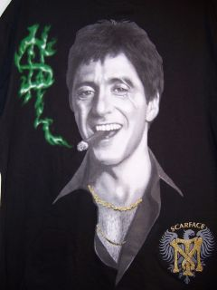 Al Pacino Scarface Tony Montana Cigar Hip Hop T Shirt