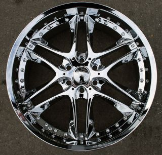 AKUZA BLADE 381 20 CHROME RIMS WHEELS / 20 x 8.5 NISSAN TITAN PICKUP