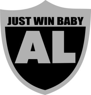Al Davis Oakland Raiders Rip Sticker Just Win Baby Al Davis Rip