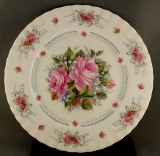 Royal Albert Happy Birthday Plate First Edition Rose Floral