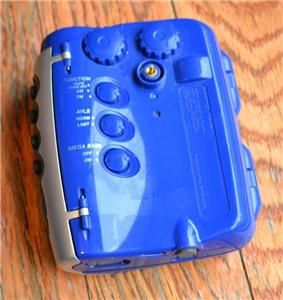 am fm wm fs111 radio cassette tape walkman radio mega bass blue look