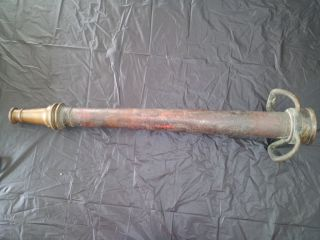 Antique W. D. Allen Chicago Firehouse Fire Hose Nozzle