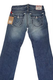 True Religion Mens Denim Jeans Ricky Giant Big T 24859NMGBT F3 High