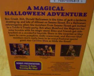 Sesame Street A Magical Halloween Adventure VHS Video