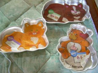 Set of Three Vintage Wilton Animal Shaped Cake Pans