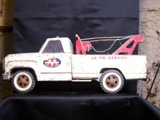 Vintage Tonka Toy AA Wrecker Tow Truck 24 Hour Service