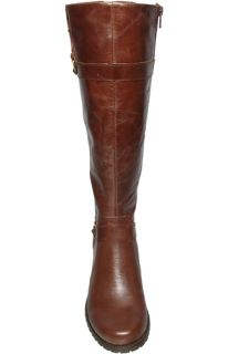Anne Klein Womens Boots Edith Dark Brown Leather Sz 10 M
