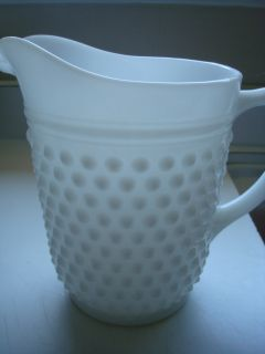 Antique Vintage Milk Glass Pitcher from Early 1900s Family Collection