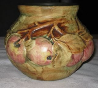 Nice Antique Weller Apple Tree Baldin Art Pottery Vase Baldwin Orchard