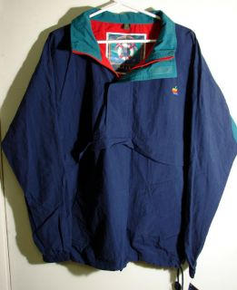 New Vintage Apple Computer Logo Windbreaker Jacket 1990s Old Rainbow