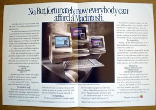 Apple Computer Vintage Glossy Macintosh sales brochure from 1990
