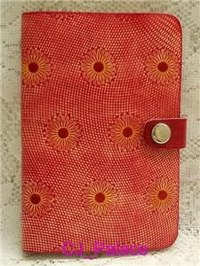 Diary Daily Planner Organizer Agenda NoteBook Appointment   Red Flower