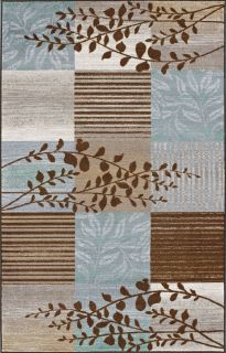 Modern 8x10 Area Rug Contemporary Carpet Blue Brown Branch 8x10 8x11