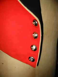 Vintage British Majors Red Military Army Mess Jacket
